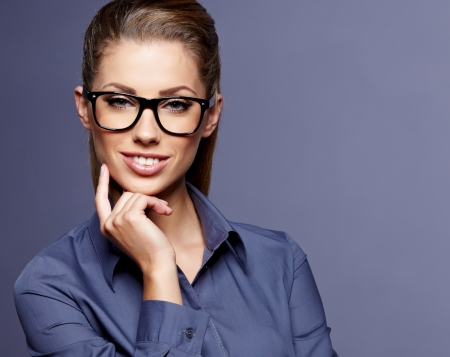 Business theme  beautiful businesswoman photo