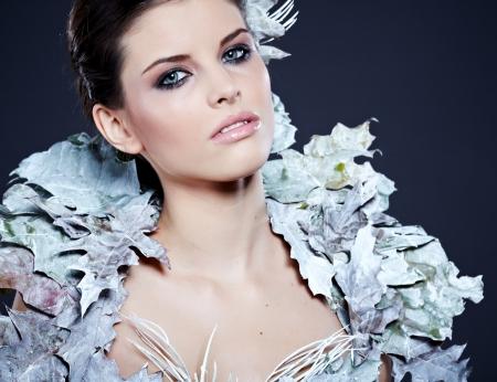 Winter Girl in Luxury fantasy Coat Stock Photo - 16551793