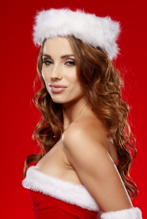 Beautiful christmas woman portrait Stock Photo - 16732235