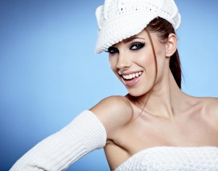 Beautiful brunette woman in studio  photo