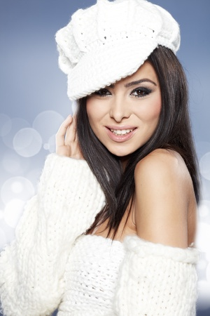 Beautiful Winter Woman  Stock Photo - 16716101
