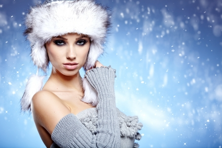 Winter Woman Portrait  photo