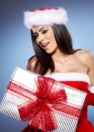 christmas woman with gifts box Stock Photo - 16717907