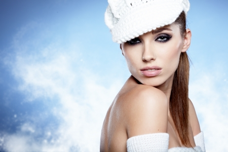 Winter Girl with beautiful make up, photo