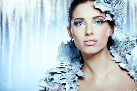 Winter queen woman photo