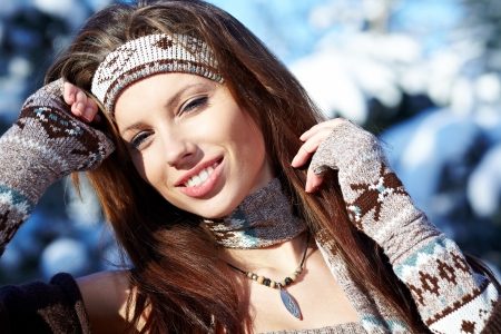 Young woman winter portrait  Shallow dof   Stock Photo - 16890677