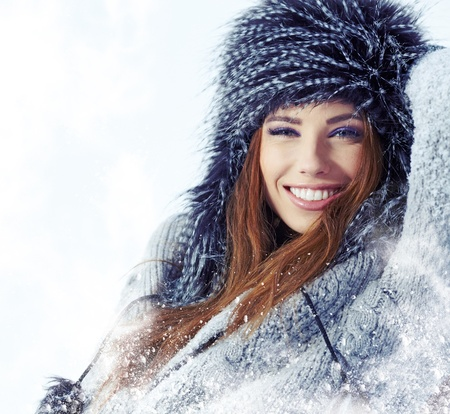 WInter woman portrait outdoor  Stock Photo - 17130057