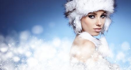 Winter woman portrait Stock Photo - 17130068