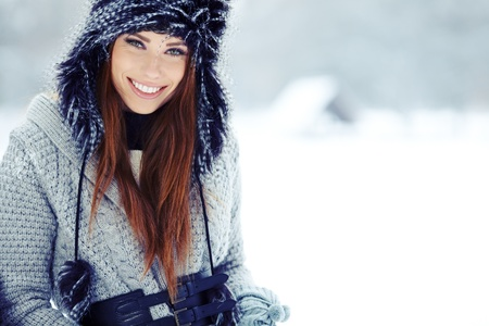WInter woman portrait outdoor  Stock Photo - 17130075