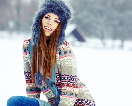 WInter woman portrait outdoor  photo