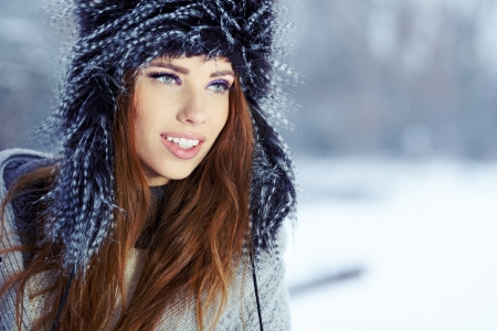 Young woman in winter  photo