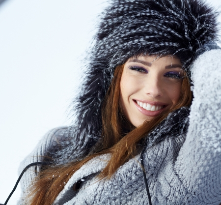 beautiful girl in winter park  Stock Photo - 17255319