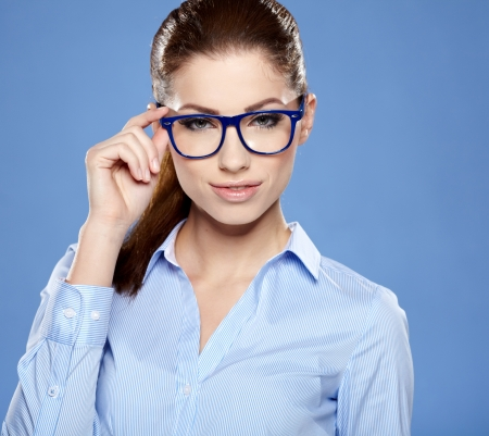 woman  glasses: business woman in glasses