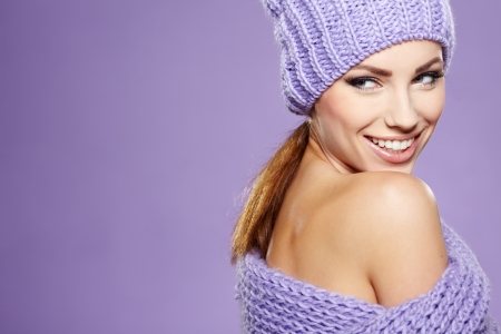 young woman wearing a winter cap Stock Photo - 17255322