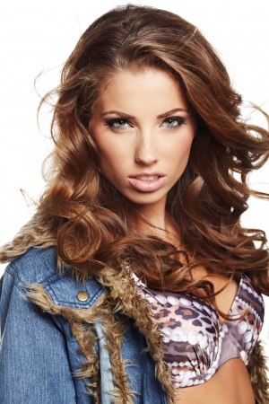 Glamorous young woman in Stock Photo - 17383466