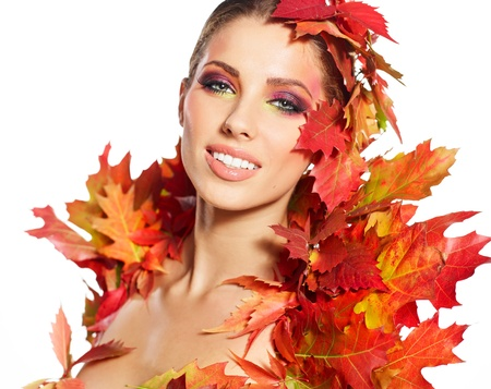 Beautiful autumn women   photo
