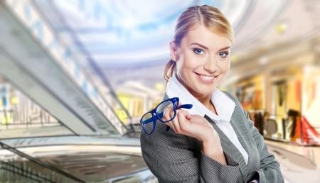 Businesswomen work in a shopping mall Stock Photo - 17564509