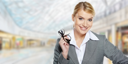 Businesswomen work in a shopping mall  Stock Photo - 17564527