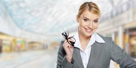 Businesswomen work in a shopping mall Stock Photo - 17564527
