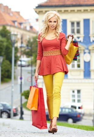 shopping woman in city Stock Photo - 17601246