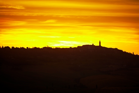 Sunset in Tuscany  photo