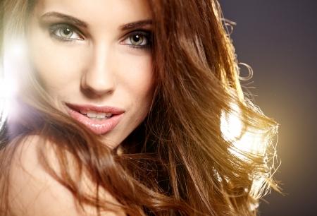 mooie vrouwen: Mooie vrouw portret Stockfoto