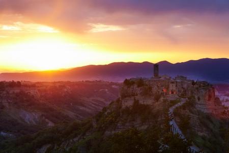 lazio: Panoramic view of Civita di Bagnoregio  Lazio  Italy