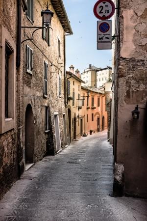 italian village: italian old street . Tuscany  Stock Photo