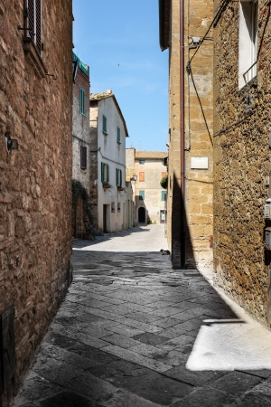nook: italian old street . Tuscany  Stock Photo