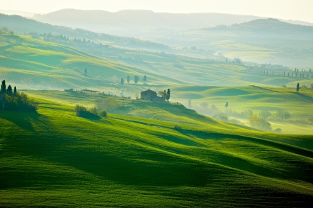 orcia: Countryside, San Quirico d Orcia , Tuscany, Italy  Stock Photo