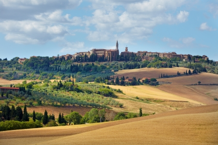 siena: Typical landscape in Val d Stock Photo