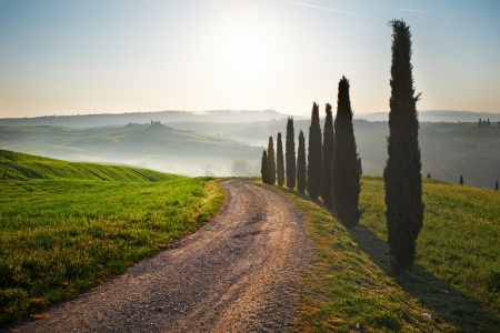 Sunset Tuscany landscape photo