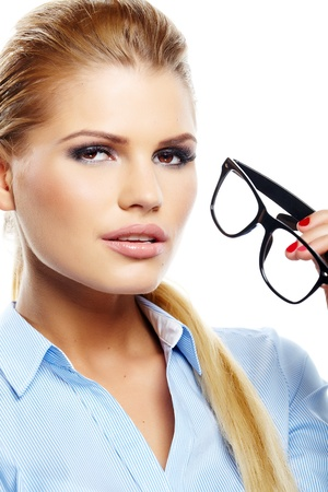 business woman in glasses Stock Photo - 19983964