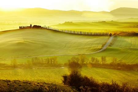 road in Tuscany Italy  photo