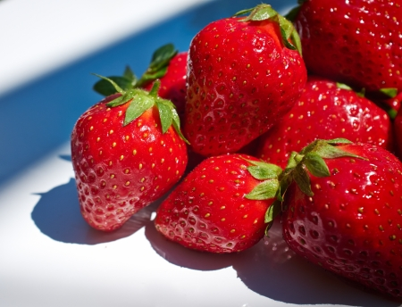 Some fresh strawberry isolated on white background  Stock Photo - 20286078