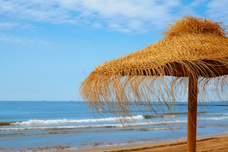 koh kho khao: Tropical beach scenery with parasol