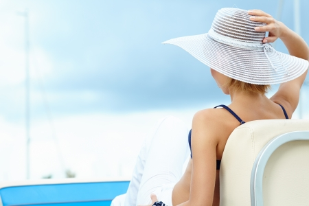 portrait of a beautiful woman on vacation Stock Photo - 20864599