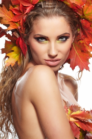 Beautiful Autumn Woman portrait photo