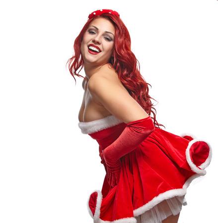 pinup girl: Christmas pin-up  girl.