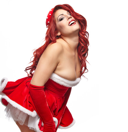 Christmas pin-up  girl  photo