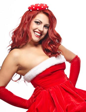 pinup girl: Christmas pin-up  girl