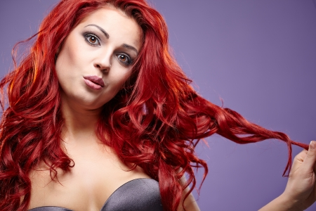 Red Hair. Fashion Girl Portrait  photo