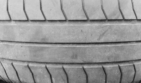 Old tires stacked photo