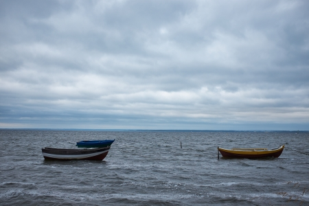 Boat on the Baltic sea. photo