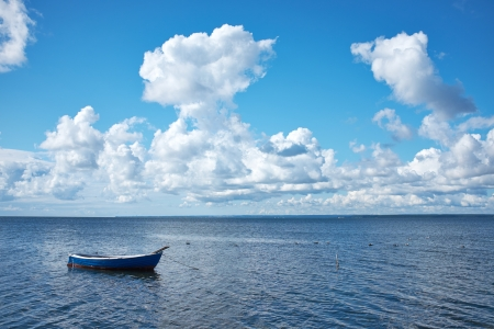 small boat: Boat on the Baltic sea  Stock Photo