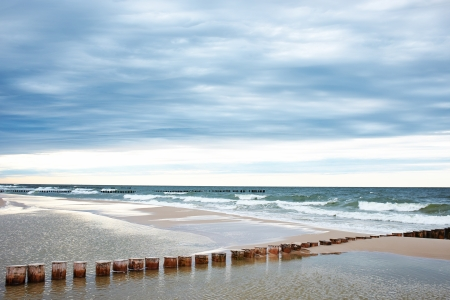 Sandy beach at the southern coast of the Baltic Sea