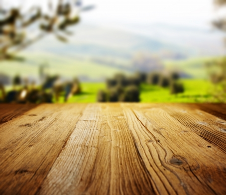 ground floor: wood textured backgrounds on the tuscany landscape
