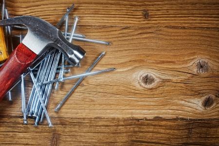 wood deck: steel nails on old wood