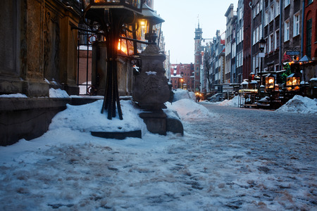 old town in Gdansk, Poland  photo