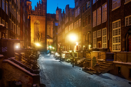 gdansk: old town in Gdansk, Poland  Stock Photo